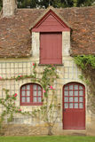 Facade of an old Farm house. Chenonceaux. France. A restored XVI th century farm at the Chenonceau palace and gardens. Chenonceaux. France Stock Image