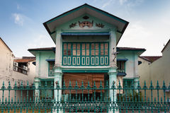 Facade of the old historial shophouse Stock Image