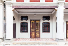 Facade of the old historial shophouse Royalty Free Stock Photo