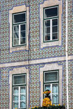 Facade of old house in Alfama district, Lisbon Royalty Free Stock Photos