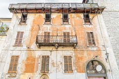Facade of old house, architecture background. Royalty Free Stock Photo