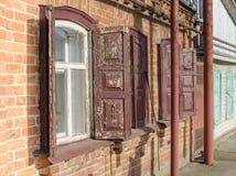 Facade of old house Stock Photos