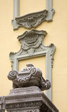 Facade of old house in Como. Italy Royalty Free Stock Images