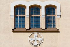 Facade of the old house Royalty Free Stock Images