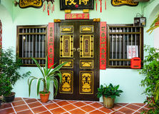 Facade of the old house in Penang, Malaysia Stock Photography