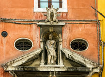 Facade of old house in Venice Royalty Free Stock Image