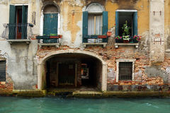 Facade of an old house in Venice, Italy Royalty Free Stock Photo