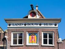 Facade old house on Voordam in Alkmaar, Netherlands Stock Photography