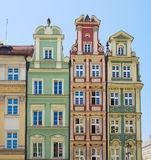 Facade of old houses Stock Images