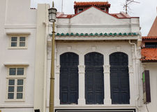 Facade of old houses in George Town, Penang, Malaysia Royalty Free Stock Photography