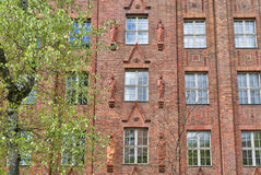 Facade of an old industry building in Berlin Stock Photography