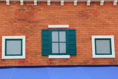 Facade of the Old Italian House Stock Photography