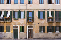 Facade of the old Italian house Royalty Free Stock Images