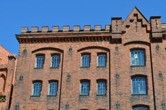 Facade of an old Marzipan storehouse in Lübeck Royalty Free Stock Photo