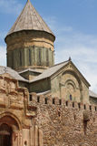 Facade of Old Orthodox cathedral of ruins Royalty Free Stock Photos