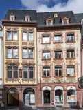 Facade of old Pharmacy Lions at the market place in Mainz royalty free stock photography