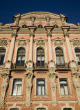 Facade of an old pink palace in st. petersburg Royalty Free Stock Image