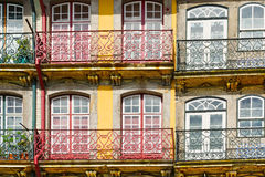Facade. Of the Old Portuguese House stock image