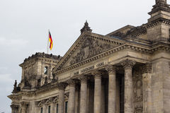 Facade of old Reichstag building in Berlin Royalty Free Stock Photography