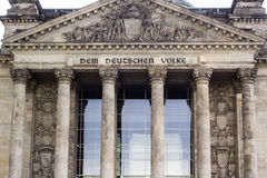 Facade of old Reichstag building in Berlin Stock Images