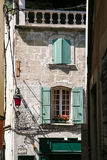 facade of old residential house in Arles city Royalty Free Stock Images