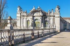 The facade of the old royal castle Queluz. Portugal. Stock Photos