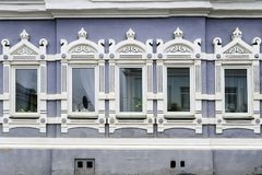Facade of the old stone house.  Stock Photography