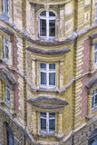 Facade of the old stone house in Prague Royalty Free Stock Images
