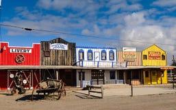 Facade of old stores. Facade of old wild west stores, Seligman, Arizona, USA stock photography