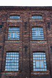 Facade of an old textile factory, Lodz, Poland Stock Images