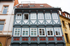 Facade of old timber framing house. Stock Photography