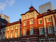 The facade of the Old Tokyo station in Tokyo, Japan Royalty Free Stock Photos