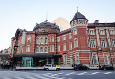The facade of the Old Tokyo station in Tokyo, Japan Royalty Free Stock Photo