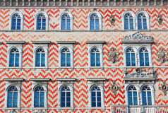 Facade of an old traditional building in Italy Stock Images