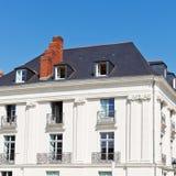 Facade of old urban house in Nantes city Stock Image