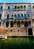 Facade old Venetian Palazzo, Venice, Italy stock photography
