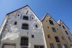 Facade of old warehouses in Tallinn, Estonia, Baltic States Royalty Free Stock Photo