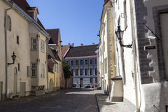 Facade of old warehouses in Tallinn, Estonia, Baltic States Royalty Free Stock Images