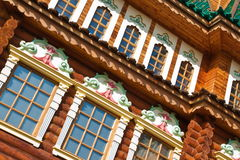 Facade of old wooden house Stock Image