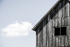 Facade of the old wooden house with window Royalty Free Stock Photography