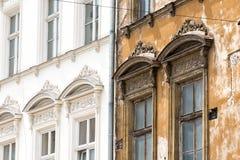 Facade. In the oldtown of Krakow, Poland Stock Photos