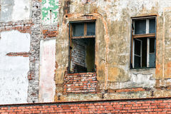 Facade. In the oldtown of Krakow, Poland Royalty Free Stock Images
