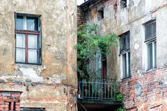 Facade. In the oldtown of Krakow, Poland stock photography