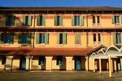 Facade of olf building in Dalat, Vietnam Stock Image
