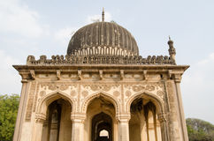 Tomb Facade, Golconda. Facade of one of the Qutub Shahi Tombs built during the Mughal Empire in Golconda, Hyderabad, India Royalty Free Stock Photography