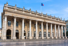 Facade of the opera of Bordeaux, France Stock Photos