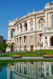Facade of opera house in Odessa, Ukraine Stock Photography