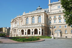 Facade of opera house in Odessa, Ukraine Stock Image