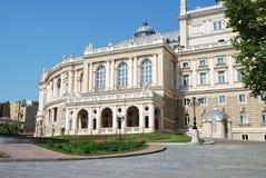 Facade of opera house in Odessa, Ukraine Stock Image