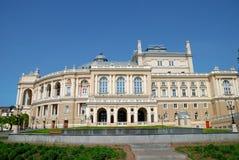 Facade of opera house in Odessa, Ukraine Stock Photography
